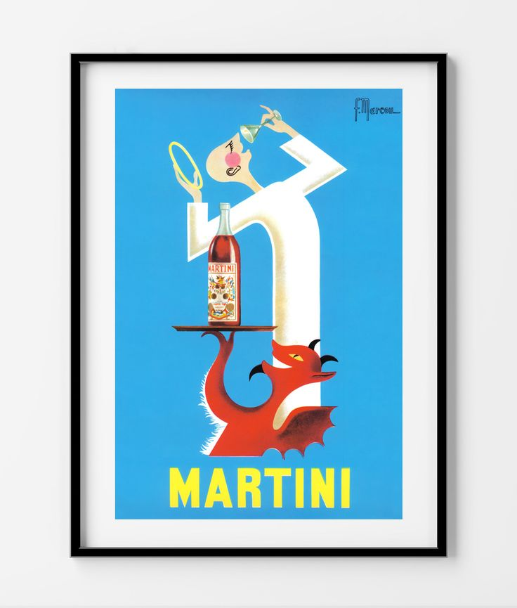 Martini Vintage Poster- Available in different sizes