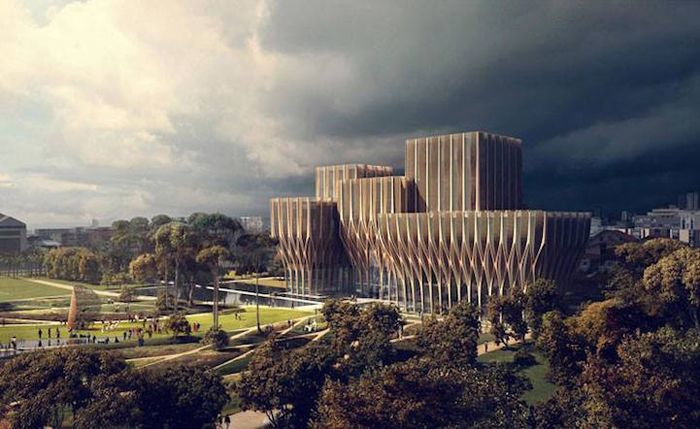 Sleuk Rith Institute in Cambodia. Zaha Hadid Architects.