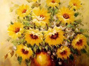 Подсолнухи Винсента Ван Гога   Ярмарка Мастеров - ручная работа, handmade