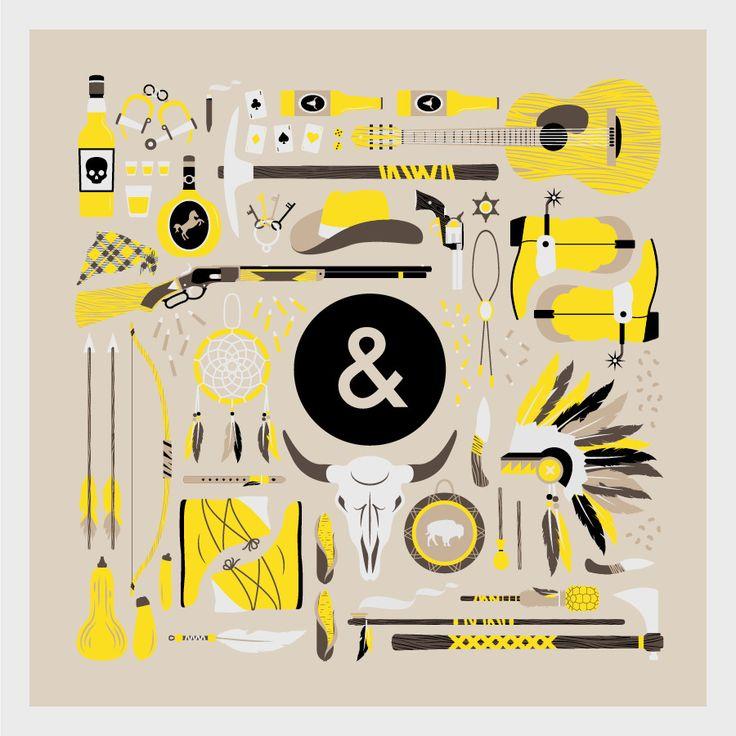 Icon by Jordon CheungDesign Inspiration, Minimal Illustration, Indian Tribes, Boys Design, Graphics Design, Indian Parties, Cowboy And Indian, Cheung Illustration, Jordon Cheung