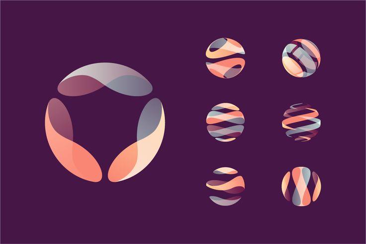 Globe & Sphere Logo Set