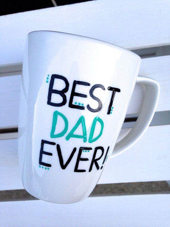 Father's Day Mug Best Dad Ever 1214 oz. mug by STITCHandCABOODLE, $14.00