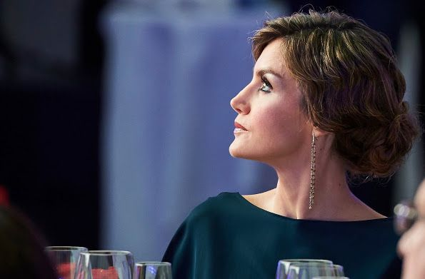 Queen Letizia of Spain attended the El Pais 40th anniversary dinner and 'Ortega y Gasset' awards ceremony. www.newmyroyals.com