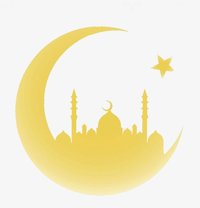Islamic Moon Yellow New Year Islam Png Transparent Clipart Image And Psd File For Free Download Background Patterns Free Vector Graphics Vector Art