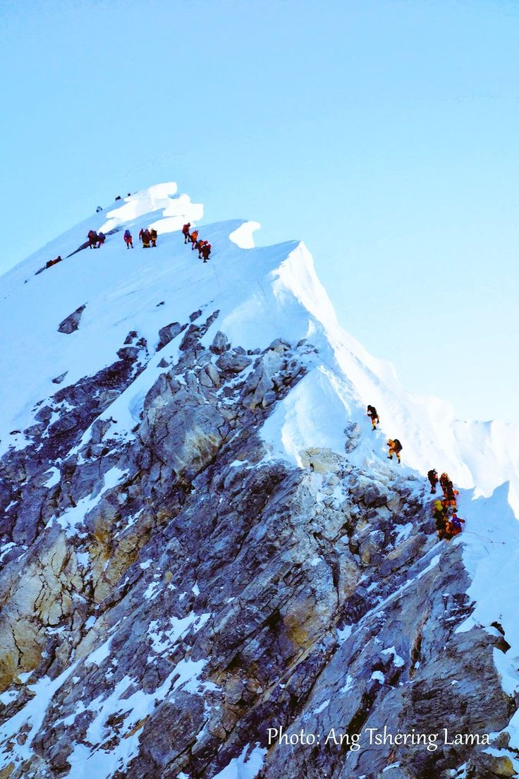 Picture of #Everest by Ang Tshering Lama - the tallest peak on the planet. Also, Hillary Step who?