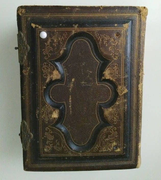 Antique 1879 Victorian Era The American Photograph Album Tooled Leather CDV Tintype Photo Album by Recycledelic1 on Etsy