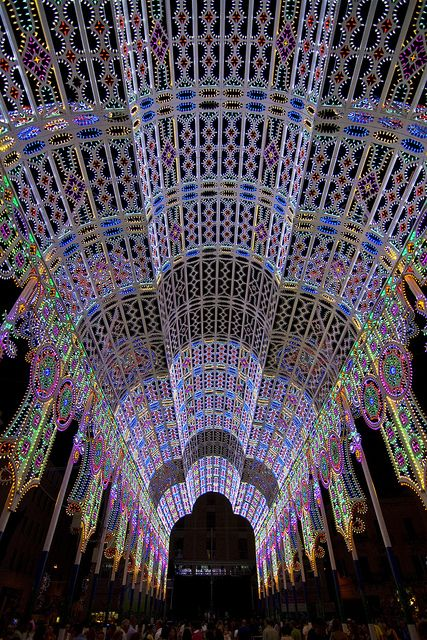 Lights for Sant'Oronzo - Lecce, Apulia, Italy