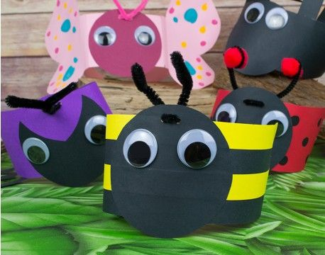 Buzzy Bee Headband or Party Hat Idea | littlecraftybugs - Boredom Buster Bugs - Mini Beast Crafts For The Kids' School Holidays