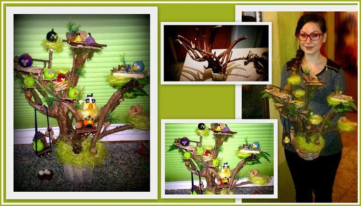 Prezent dla pięciolatka.Drzewo Angry Birds.