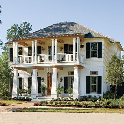 Bayou bend idea house tour cottage in the modern and house for Home plans louisiana