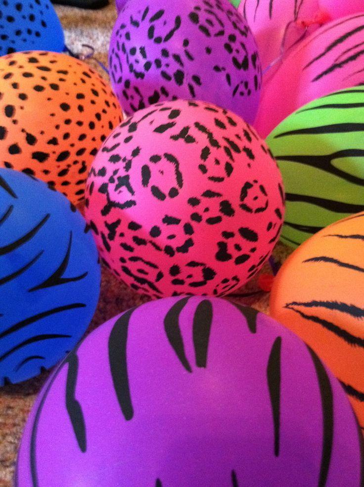 80's ballons - gotta have animal prints! <3