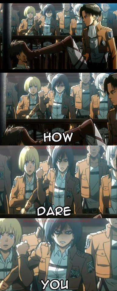 Luckily Armin was there, because things had gotten very ugly ....... for Mikasa ..