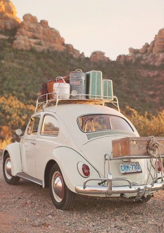 For the Traveling Soul | Beetle | Suitcases | Old Fashion