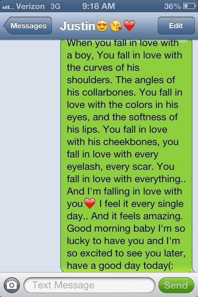 cute texts for him dating