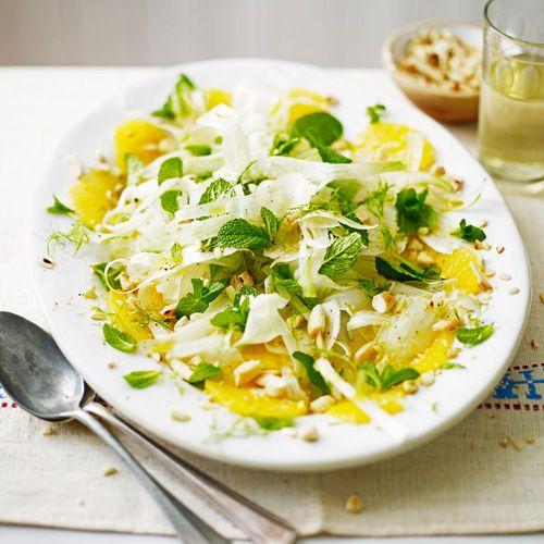 Salade met venkel, sinaasappel & munt recept - Jamie magazine