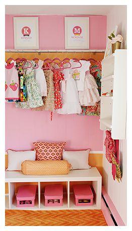 adorable girl's closetIdeas, Little Girls, Closets Organic, Kids Room, Girls Room, Girls Closets, Projects Nurseries, Baby Girls, Kids Closets