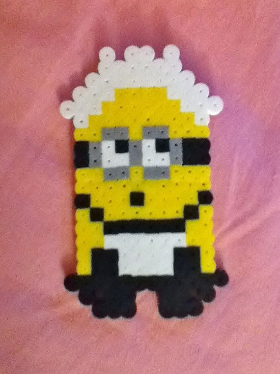 Cleaning Maid Perler Bead Despicable Me Minion by RainbowMoonShop