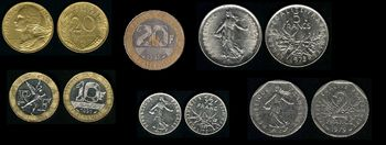 French franc coins (1960-1999)