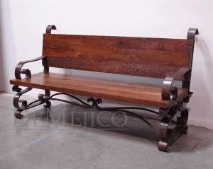 Wrought Iron Bench Old Wood And Wrought Iron On Pinterest