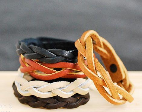 hermosas pulseras de cuero facil y hermosas pulseras cuero ideas