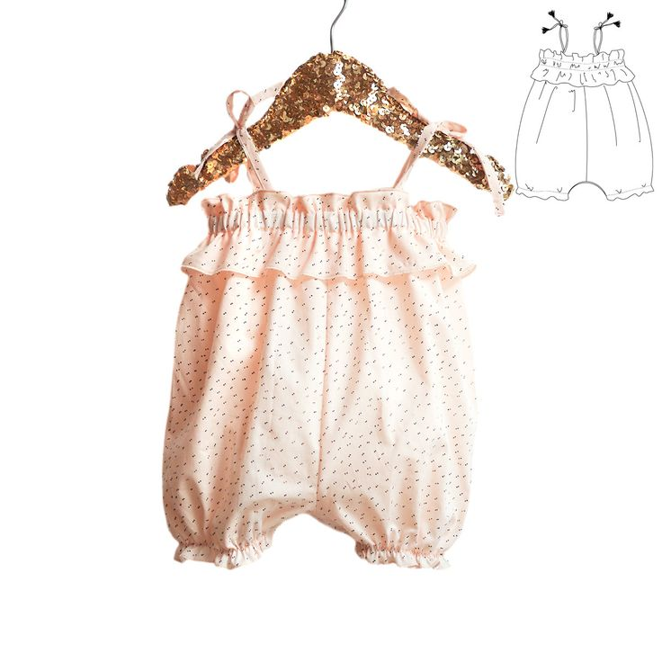 Sewing pattern & guidebook for Newborn or Baby Girl For sweetbohemian baby girls, and easy pattern for beginners Comfortable fit Loose bodice with ela