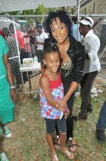 My daughter Saharan & I at Digicel Reggae Festival in Barbados