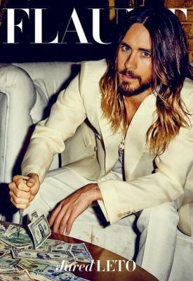 Jared Leto reminds us all that a suit without a collared shirt is as absurd and futile as stabbing dollar bills on a table.