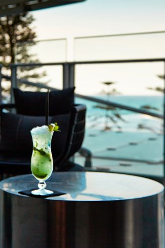 Hurricane's Grill Surfers Paradise Cocktail and view
