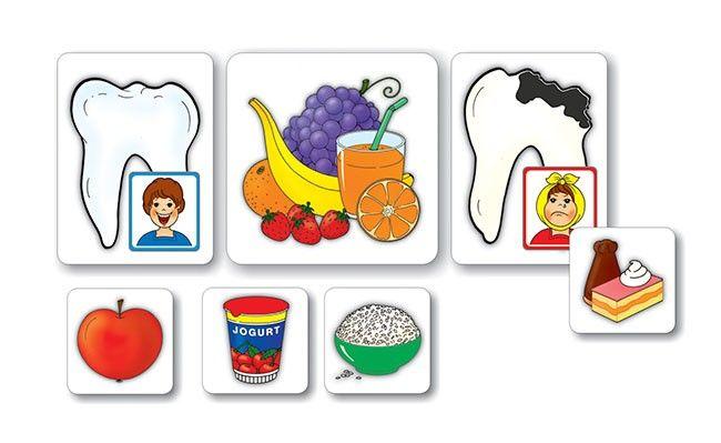 Zdravá výživa - Motivačné obrázky, rozvoj reči - Slovenský jazyk - Učebné pomôcky