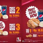 Menu dan Harga Paket KFC Super Wow Terbaru 2014