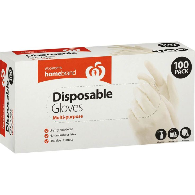 Homebrand gloves disposable lightly powdered 100pk