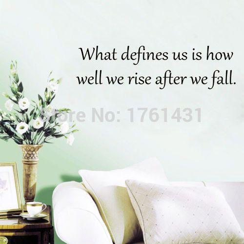 То, что определяет нас как мы поднимаемся после падения наклейки для стен виниловые наклейки домашнего декора гостиной декоративные обои цитата