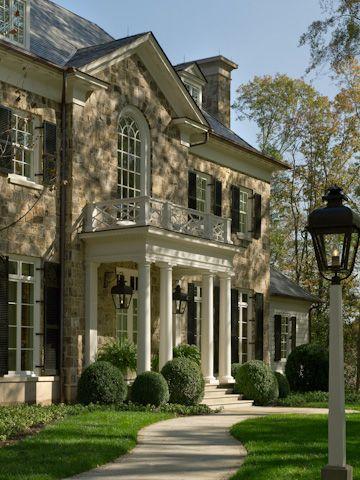 Exterior Louvered Shutter · Dream Home DesignHouse DesignExterior ...