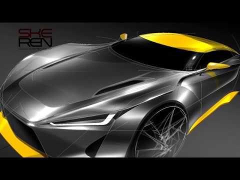 Car Sketch, Photoshop U0026 Design(Bird Eye View) #CarSketch