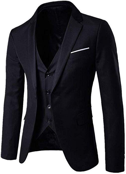 51e428be5f25 MORCHAN Costumes Slim Costume 3 pièces Blazer de soirée de Mariage Affaires  Veste Veste et Pantalon