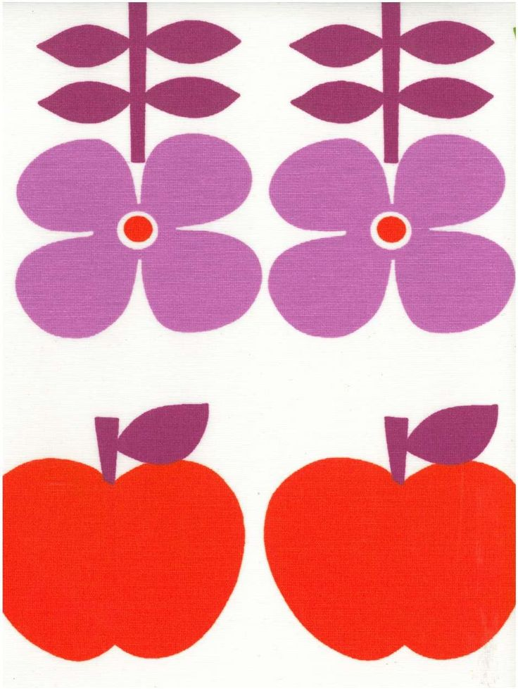 Fiesta oranje-paars   Bloemen / planten tafellinnen - Tafelzeil.com