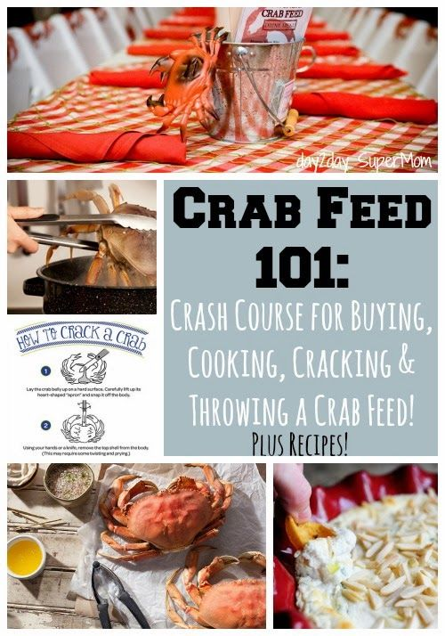 Crab Feed 101: Crash Course for Crab Season. Buying, Cooking, Cleaning, Cracking, Crab Feed Party Ideas & Recipes!