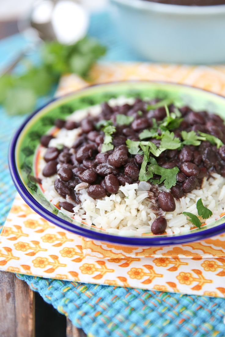 Brazilian Black Beans Recipe- yummy. Added some cilantro and lime. Served over short brown rice.