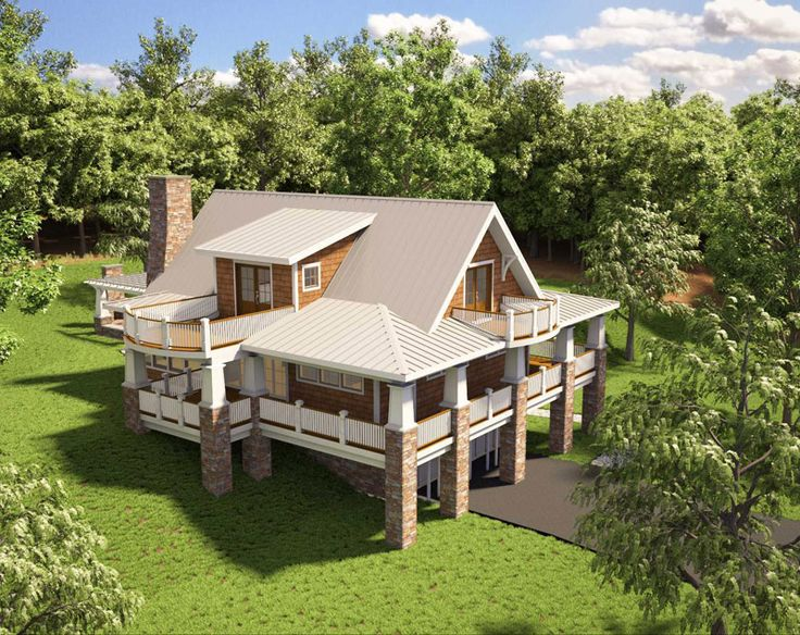 this amazing mountain house plan was inspired by a custom home the designer built for a - Beautiful House Plans