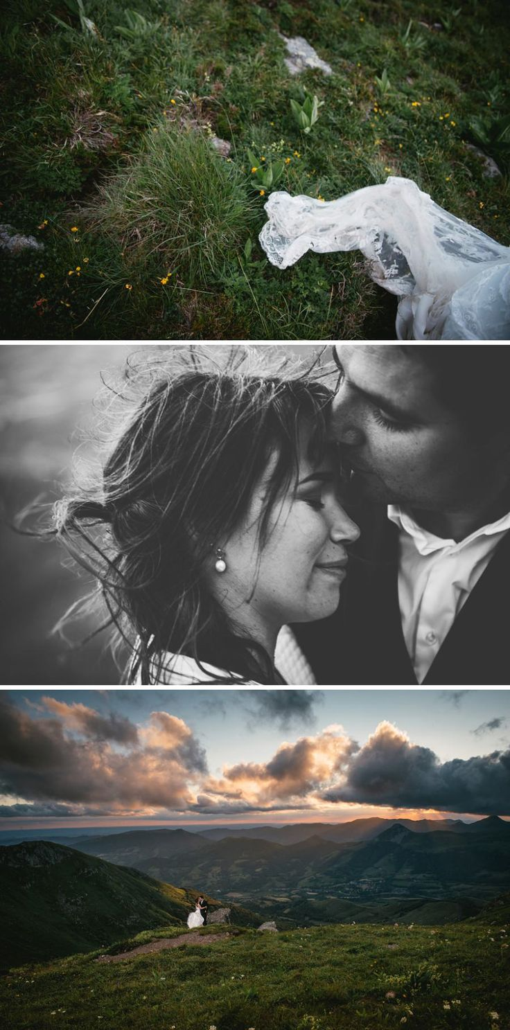Windy couple pictures on top of a French mountain - Zephyr & Luna photography
