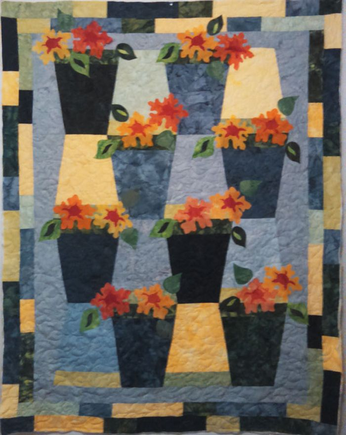 Trivoli Quilt Pattern TQS-14 (advanced beginner, wall hanging, lap and throw, twin, queen)- Karen Gibbs, The Quilt Studio- $8.00