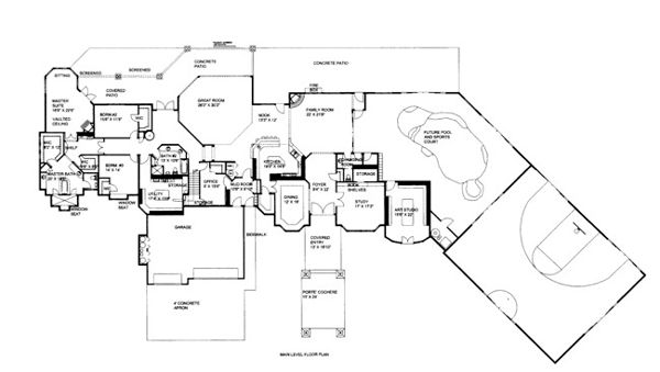 Basketball Court Floor Plan: House Plan 86686