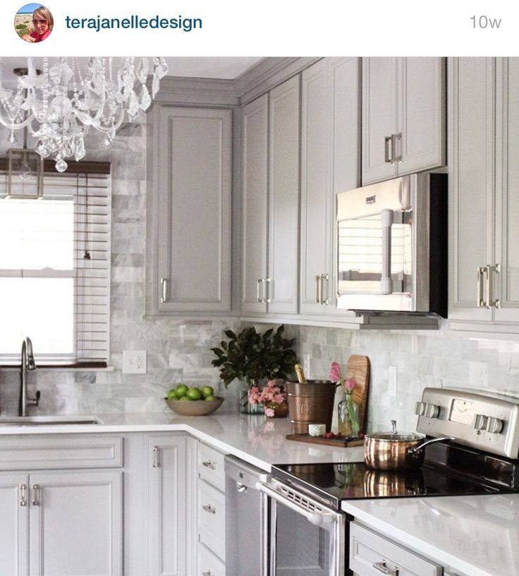 Wow this Kitchen is stunning. Love the gray cabinets