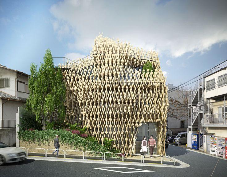 kengo kuma wraps sunny hills japan shop in wood - designboom | architecture