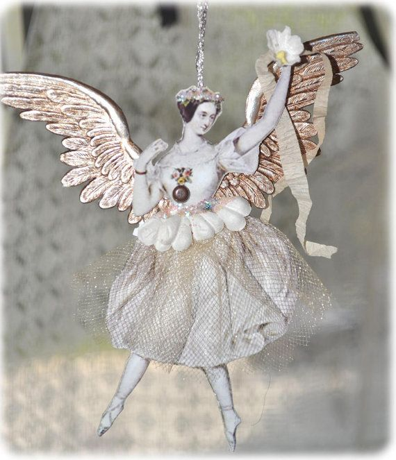 Victorian and Vintage Style Fairy Ornament by ivascreations