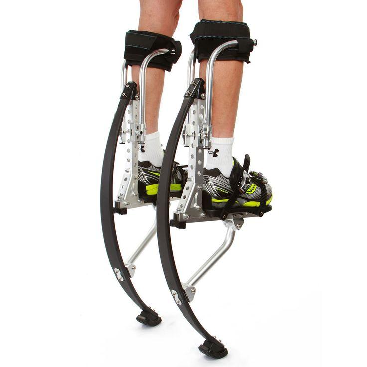 The 10 Foot High Jumping Stilts - Hammacher Schlemmer