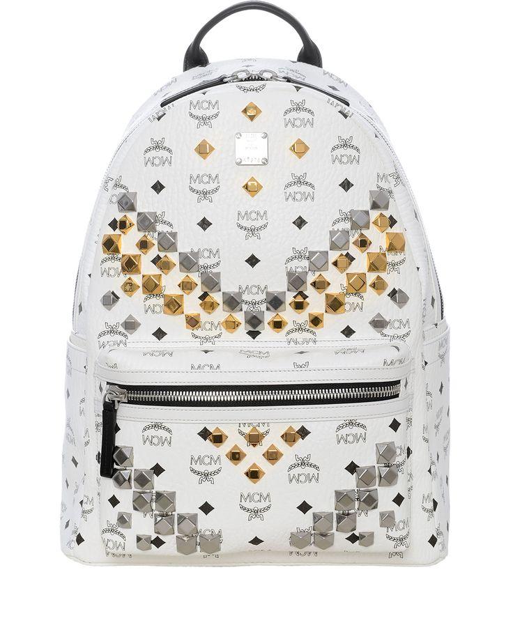 Weißer Stark Nieten #Rucksack Medium #MCM #Taschen #Accessoires