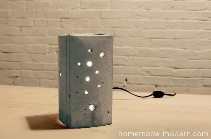 HomeMade Modern DIY EP6 Concrete Lamp Option