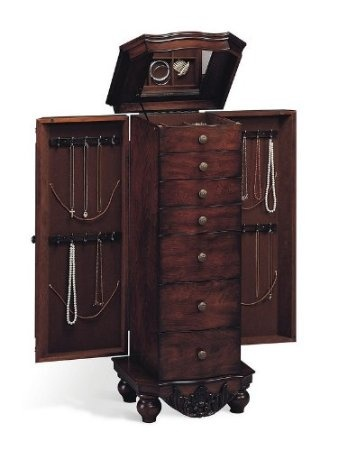"""16.5""""L x 13""""W x 38""""H      Bedroom      Bedroom->Jewelry Armoires      Some assembly may be required. Please see product details.   $240.27"""