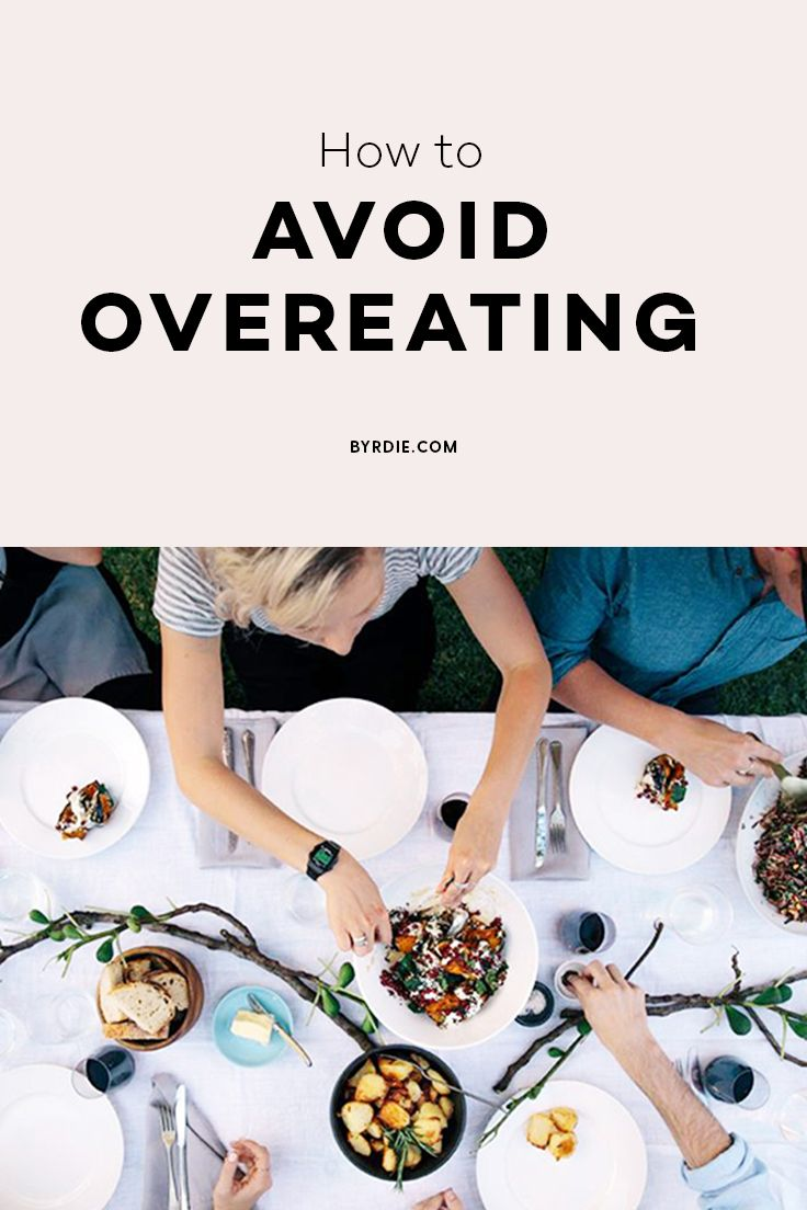 How to not overeat